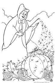 Cinderella Color Page Disney Coloring Pages Plate Sheetprintable