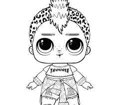 Punk Boi Lol Coloring Page Surprise Doll Pages Pics To Color