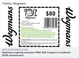 What Would Happen If You Clicked On That Fake $80 Wegmans ... 25 Off Ludwig Promo Codes Top 2019 Coupons Promocodewatch Discount Vouchers And Booksamillion 5 Off At Or Rugged Maniac Florida Promo Code Aaa Discounts Rewards Olc Accelerate Where Do I Find The Member Code 50 Black Friday Deals For Photographers Chemical Guys Coupon October 22 Free Gifts Cyber Monday 2018 Best Book Audiobook Deals The Verge Surplus Gizmos Coupon Jump Around Utah Coupons French Mountain Commons Log Jam Outlet Adplexity Review Exclusive Off Father Of