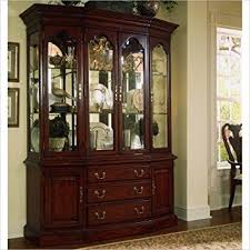 american drew cherry grove china cabinet in antique