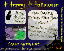 Halloween Scavenger Hunt Clue Cards by Inaugural Halloween Scavenger Hunt 2017 Ocean City Cool
