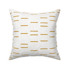 100 Ochre Home Details About Line Mudcloth Geo Texture Throw Pillow Cover W Optional Insert By Roostery