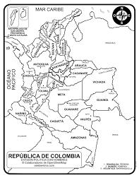 Mapa De Colombia Con Sus Departamentos Y Capitales Para Colorear