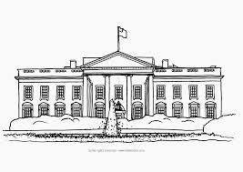 White House Coloring Page Free Printable Of The In Washington