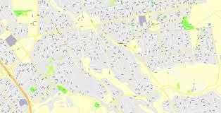 Printable Vector Map Santa Clara County California US Exact Street G