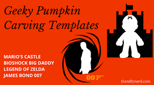Mario Pumpkin Carving Templates by Game Pumpkin Carving Templates Printable Pdf Patterns