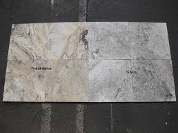 difference between silver and philadelphia travertine tones