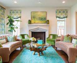 glamorous turquoise rug trend los angeles contemporary living room