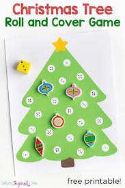Christmas Math Activity For Preschool A Fun Tree Game Young Children