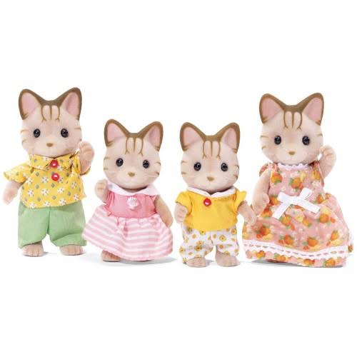 Calico Critters Sandy Cat Family Doll - 4pcs