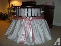 Round Bassinet Bedding by Round Baby Bassinet With Skirt And Sheet Lakeland For Sale In
