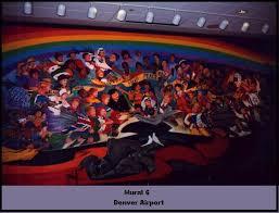 Denver International Airport Murals Horse by Denver International Airport What U0027s Up With The Murals
