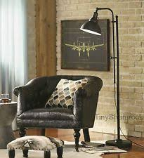 Industrial Style Rustic Floor Lamp Reading Task Light Adjustable Accent Lighting