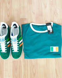 cheap official adidas gazelle uk 7 t shirt size l green and