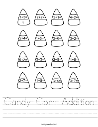 Spookley The Square Pumpkin Coloring Pages by Candy Corn Addition Worksheet Twisty Noodle