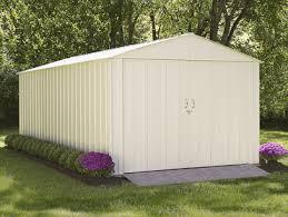 arrow commander 10 x 20 metal storage shed w double doors sheds com