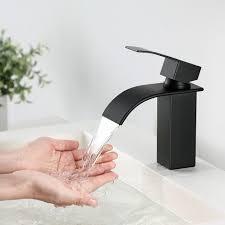 cecipa waschtischarmatur wasserhahn bad armatur einhebelmischer mischbatterie waschbeckenarmatur für badezimmer waschbecken schwarz