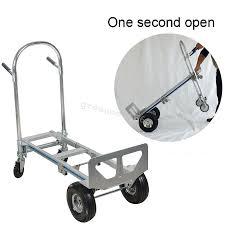 2 IN 1 Aluminum Hand Truck / Dolly & Utility Cart - Heavy Duty ...