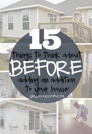 15 things to think about before adding an addition to your
