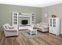 wohnzimmer komplett set e bibaor 7 teilig farbe eiche weiß