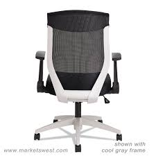 Alera Mesh Office Chairs by Alera Eb K Series Synchro Mid Back Flip Arm Mesh Chair Black Cool