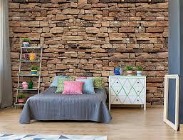fototapete vlies stein steinwand steinoptik schlafzimmer