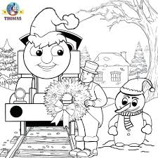 Train Coloring Pages Free Christmas Thomas Printable Full Size