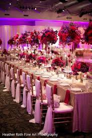 A Gorgeous Pink Red & Purple Wedding Reception Decor By Prashe