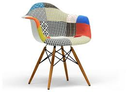 baxton studio lia patchwork mid century style dining chair