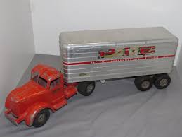 VINTAGE SMITH MILLER L Mack PIE 1953 Semi Tractor Trailer Truck ... Smith Miller Toy Truck Original United States Mack Army Trucki Ardiafm 0 Smith Miller Toy Truck W Trailer For Sale At Vicari Auctions New Trucks National Truckn Cstruction Auction 2012 L Pie Freight Witherells House Hank Sudermans Smithmiller Navajo Kenworth Drom Pictures Items Bargain Johns Antiques Cast Alinum Aerial Weekend Finds Dump Rm Sothebys Mobilgas Tanker The Ponder 1945smitty Toyschevy Flatbed Toy1st Year Die