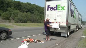 100 Fedex Truck Wreck FedEx Spills Packages On Interstate WNEPcom