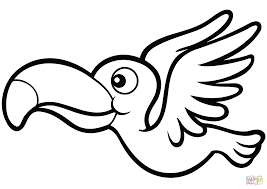 Keelbilled Toucan Para Colorear Coloring Pages Print Coloring