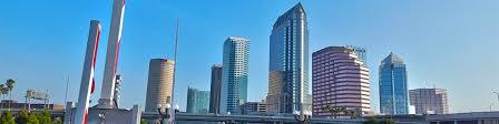 Cropped Platt Street Bridge With Tampa Skyline In Background