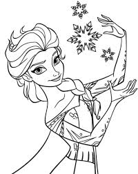 Coloring Frozen Princess Pages For Kids