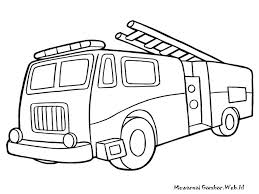 Old Fire Truck Coloring Pages With Station Drawing At GetDrawings ...