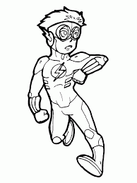 Kid Flash Coloring Pages