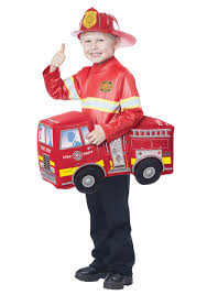 Child Ride In Firetruck Costume