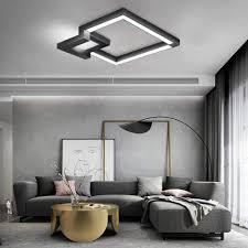 zmh led deckenleuchte 78cm wohnzimmer dimmbar fernbedienung warmweiß neutralweiß kaltweiß deckenle geometrisches design wohnzimmer deckenleuchten