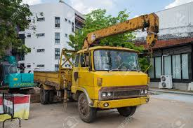 Boom Truck, Crane Truck Hydraulic Control. Stock Photo, Picture And ...
