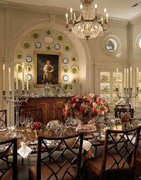 Dining Room The Formal Rooms With Chandelier And Decorative Plates