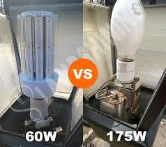 mogul base 60 watt led corn bulb replacement 175 watt mercury