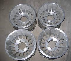 100 6 Lug Truck Rims VTG Chevy Turbine Wheels 15 X 85 4X4 12 Ton
