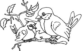 Bird Coloring Pages Simple Books