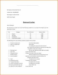 demand letter sample