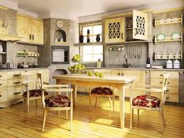 Kitchen Rustic Italian Designs For Warm And Soft Ambiance With Nice Floor