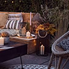 canberra schwarze deko laterne mit truglow kerze lights4fun de