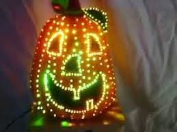 Avon Fiber Optic Halloween Decorations by Fiber Optic Pumpkin Color Change Jack O U0027lantern Halloween Harvest