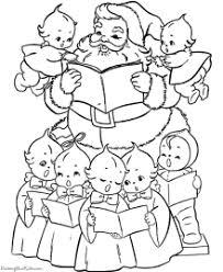 Singing Christmas Carols Printable Coloring Pages