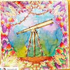 Johanna Basford Telescope Ps Coloring Forests Garden Space Photo Manipulation