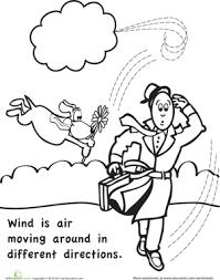 Kindergarten Science Worksheets Color And Learn Wind